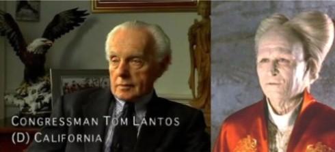 Representative Tom Lantos and Dracula