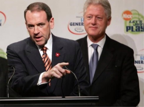 Nanny Huckabee and Bill Clinton