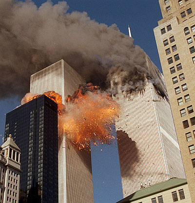 twin towers 9 11 plane. Second Plane Hits Twin Towers