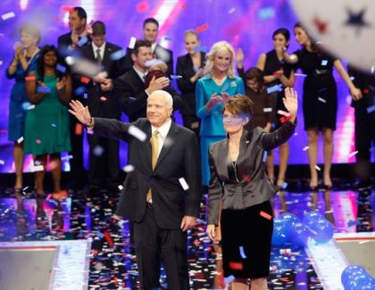 John McCain and Sarah Palin at Republican National Convention