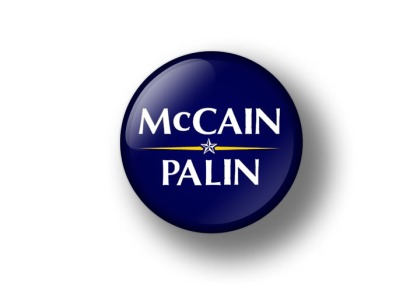 McCain Palin Campaign Button