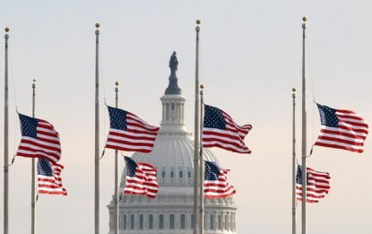 Flags At Half Staff In Washington After Tucson Shooting