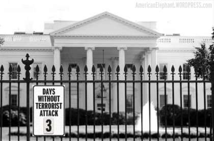 Obama Days Without Terrorist Attack