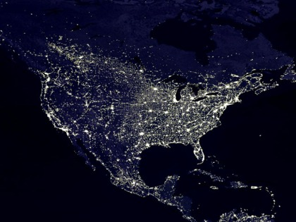 America at night