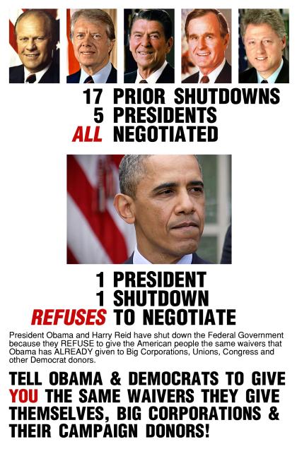 Obama Wont Negotiate