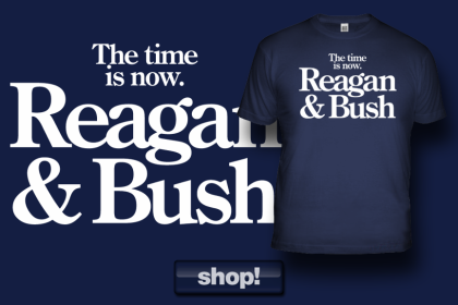 The Original, Iconic 1980 Ronald Reagan & Bush campaign logo. Available ONLY from American Elephants!