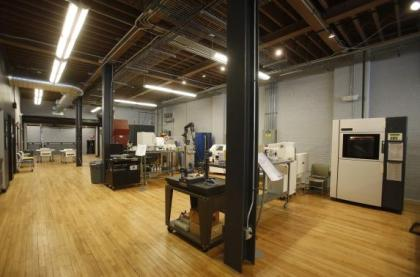 3D printers of all shapes and sizes fill the studios at America Makes, the National Additive Manufacturing Innovation Institute in Youngstown, Ohio