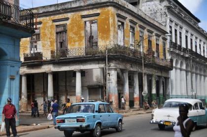 Gutted Yellow Building Havana