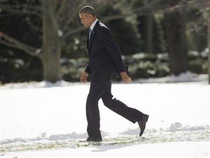 Obama walking