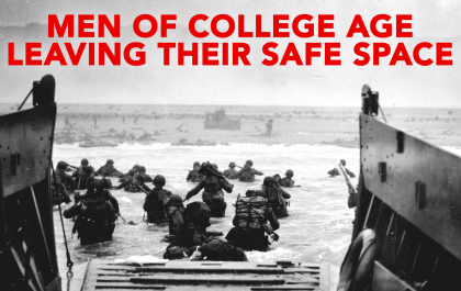 Men College Leaving Safe Space