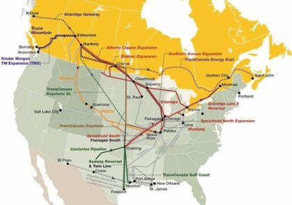 Canadian and US Crude Oil Pipeline Proposals